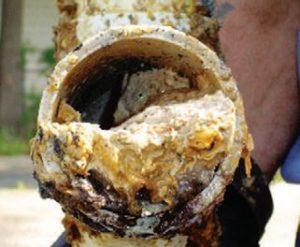 FOG filled pipe
